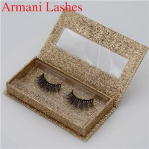 Horse Fur Strip Lashes with custom logo false eyelashes