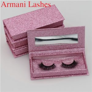 mink lashes with custom logo false eyelashes