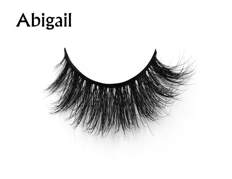 Abigail (1) 3d mink eyelashes private label silk lashes