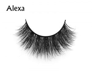 Alexa (1) 3d mink eyelashes private label silk lashes
