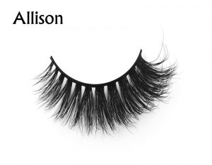 Allison (1) 3d mink eyelashes private label silk lashes