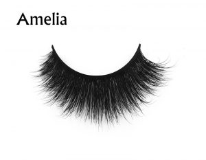 Amelia (1) 3d mink eyelashes private label silk lashes