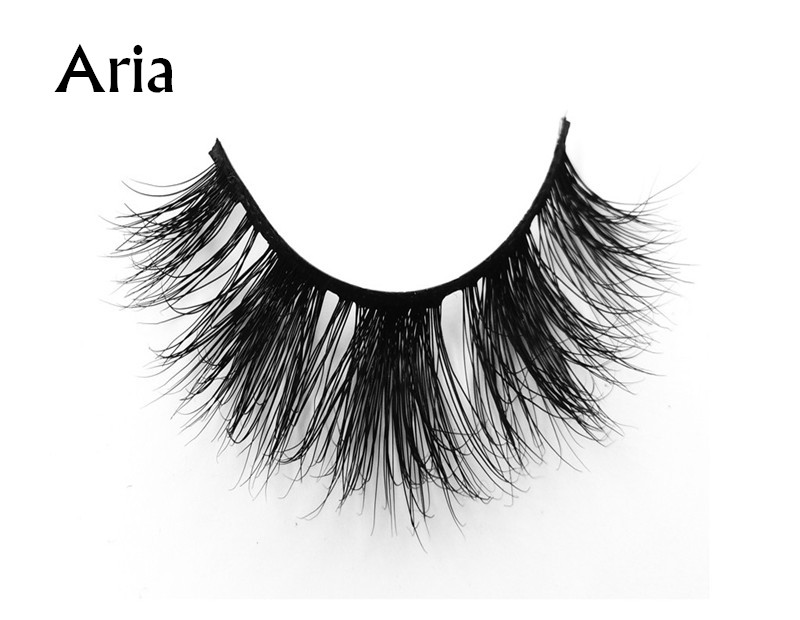Aria (1) 3d mink eyelashes private label silk lashes