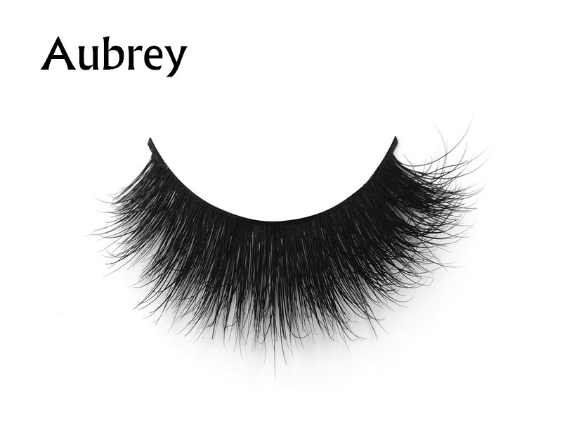 Aubrey (1) 3d mink eyelashes private label silk lashes