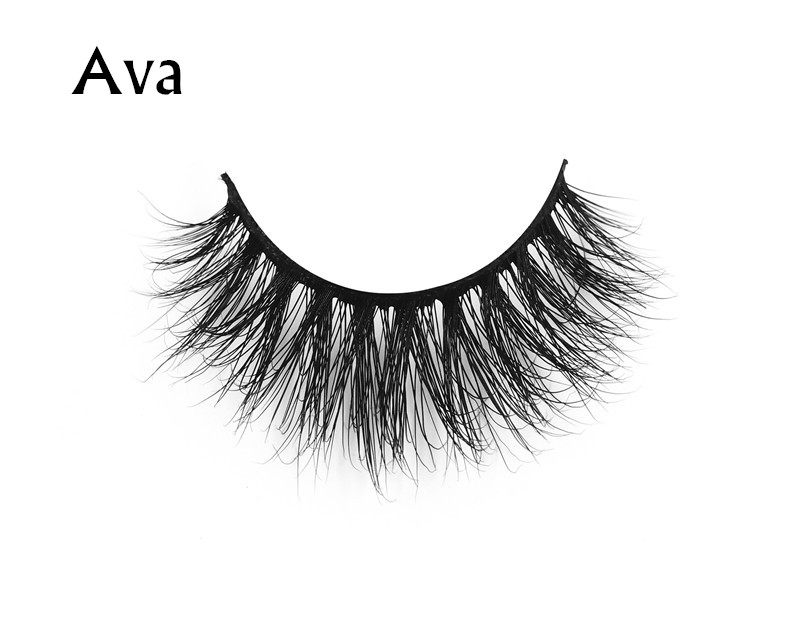 Ava (1) 3d mink eyelashes private label silk lashes