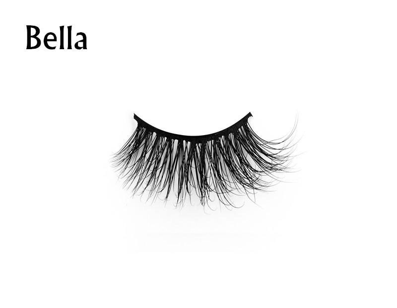 Bella (1) 3d mink eyelashes private label silk lashes