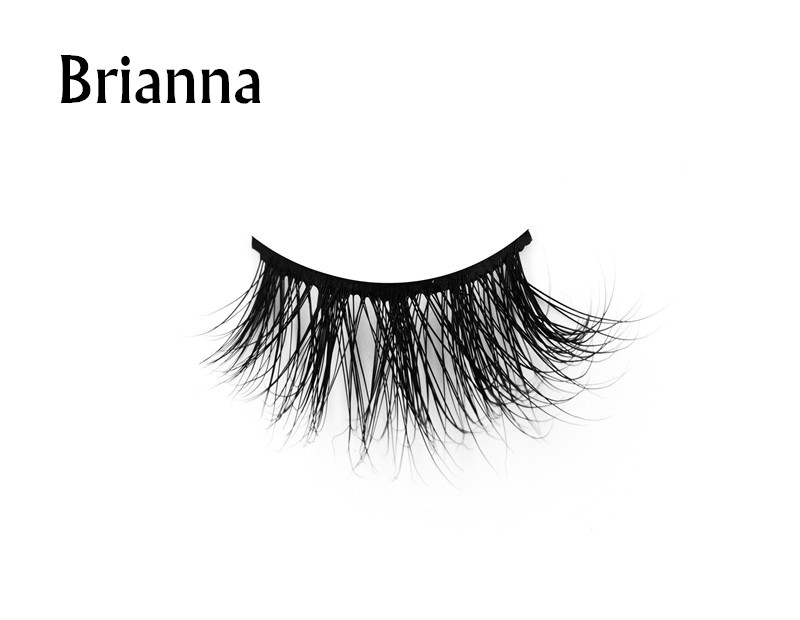 Brianna (1)3d mink eyelashes private label silk lashes