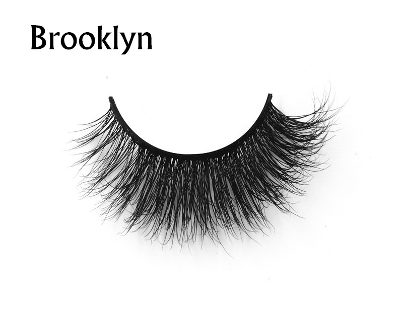 Brooklyn (1)3d mink eyelashes private label silk lashes
